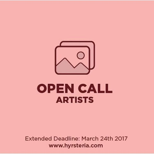 Open call for artists! hyrsteriazine bmoreart doit