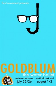 """Fluid Movement Presents: """"Goldblum: The Water Ballet"""" A Spiritual Journey through Jeff Goldblum's Acting Career @ Patterson Park Pool @ Patterson Park Pool 