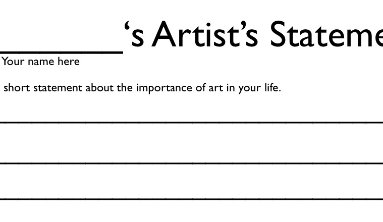 Parody and the State of the Artist's Statement – BmoreArt