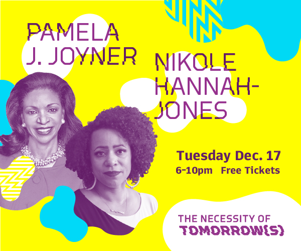 Pamela Joyner and Nikole Hannah-Jones Dec. 17 at BMA
