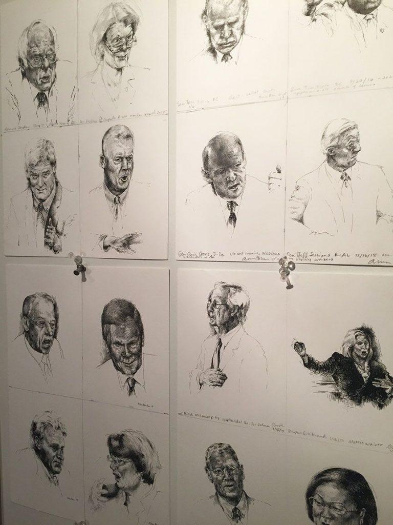 Amanda Birnham's CSPAN drawings